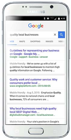 Google search result with your site on top